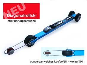 Diagonalrollski A3 / 3-rädrig mit Führungsantenne